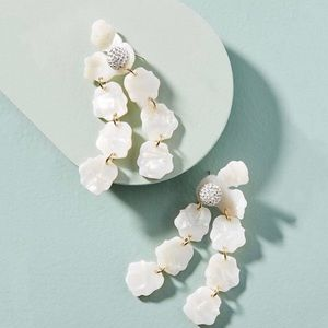 NWT Anthro Lele Sadoughi lily petal earrings